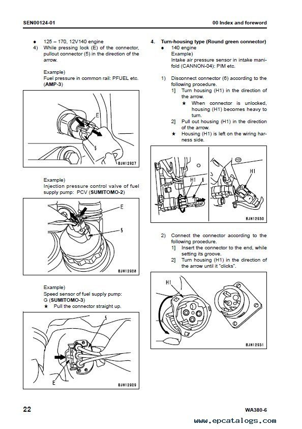 Komatsu WA380-6 Galeo Wheel Loader Shop Manual PDF