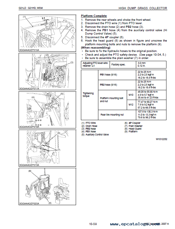 Kubota G21LD, G21HD Workshop Manual PDF