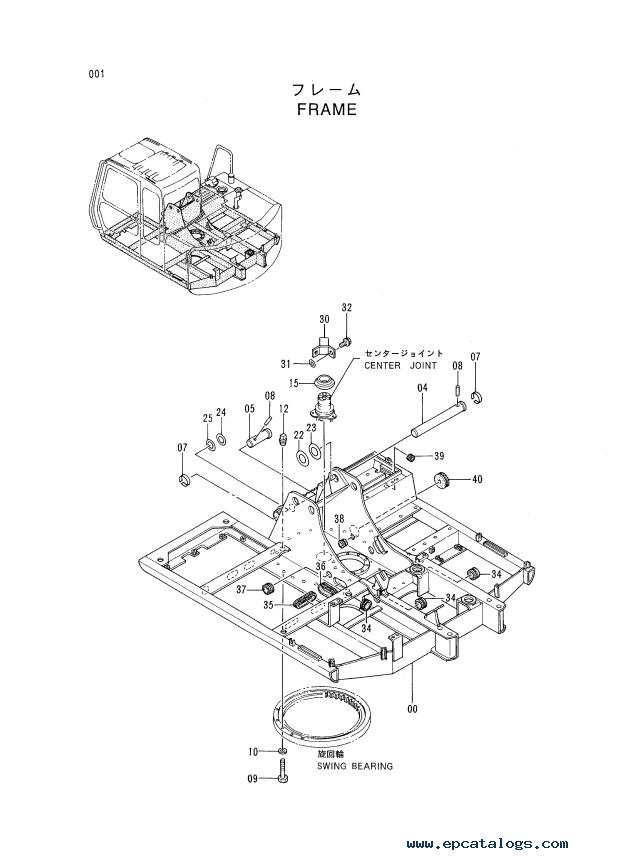 Hitachi EX-3 Series Excavators Set of PDF Parts Catalogs