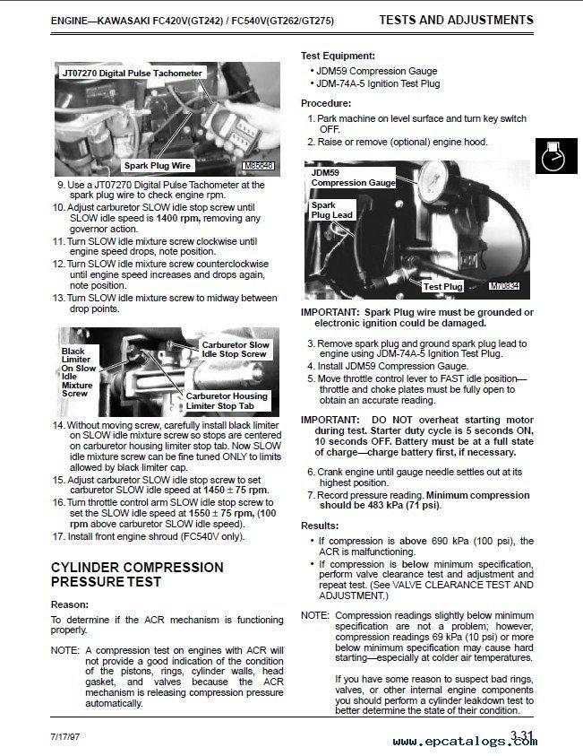 John Deere GT242-GT262-GT275 Lawn & Garden Tractors