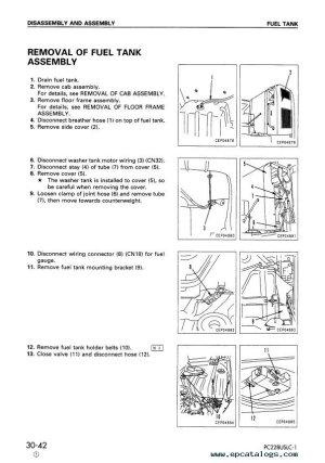 Komatsu Hydraulic Excavators PC228USUSLC1,2,3 PDF Set Manuals
