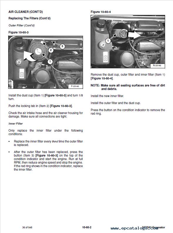 Bobcat 337, 341 Compact Excavator Service Manual PDF