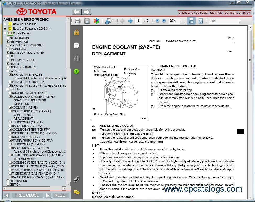 toyota avensis t25 service manual open source user manual u2022 rh userguidetool today toyota corolla verso parts catalog toyota verso parts list