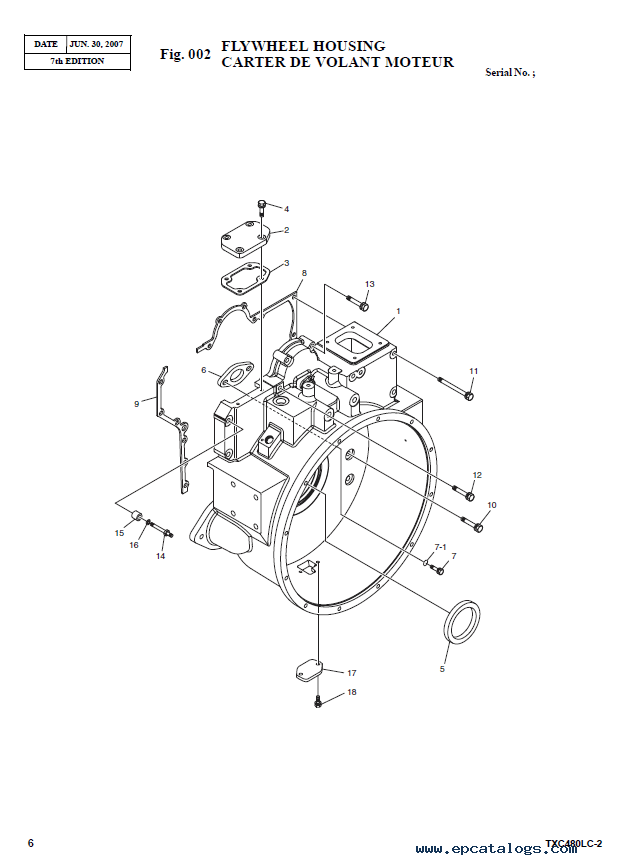 Terex TXC 480LC-2 Heavy Excavator Parts Manual PDF Download