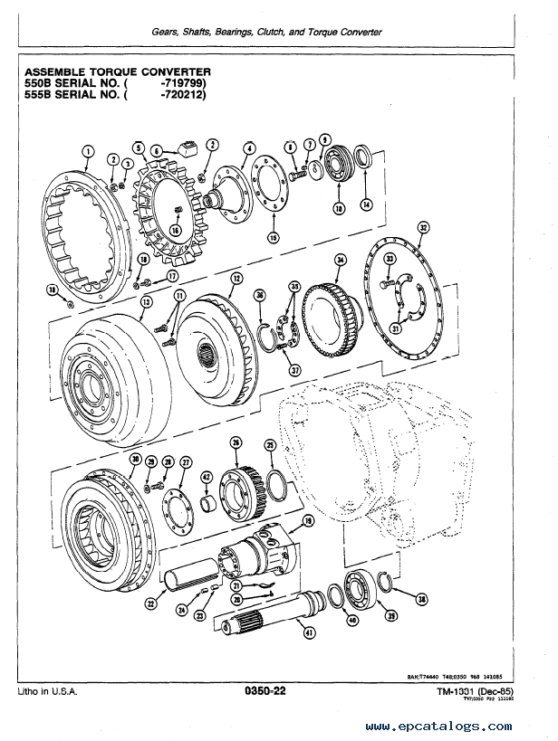 John Deere 550B 555B Crawler Loader TM1331 PDF Manual