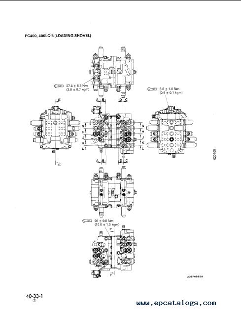 Komatsu Hydraulic Excavator PC300-5, PC400-5, repair manual