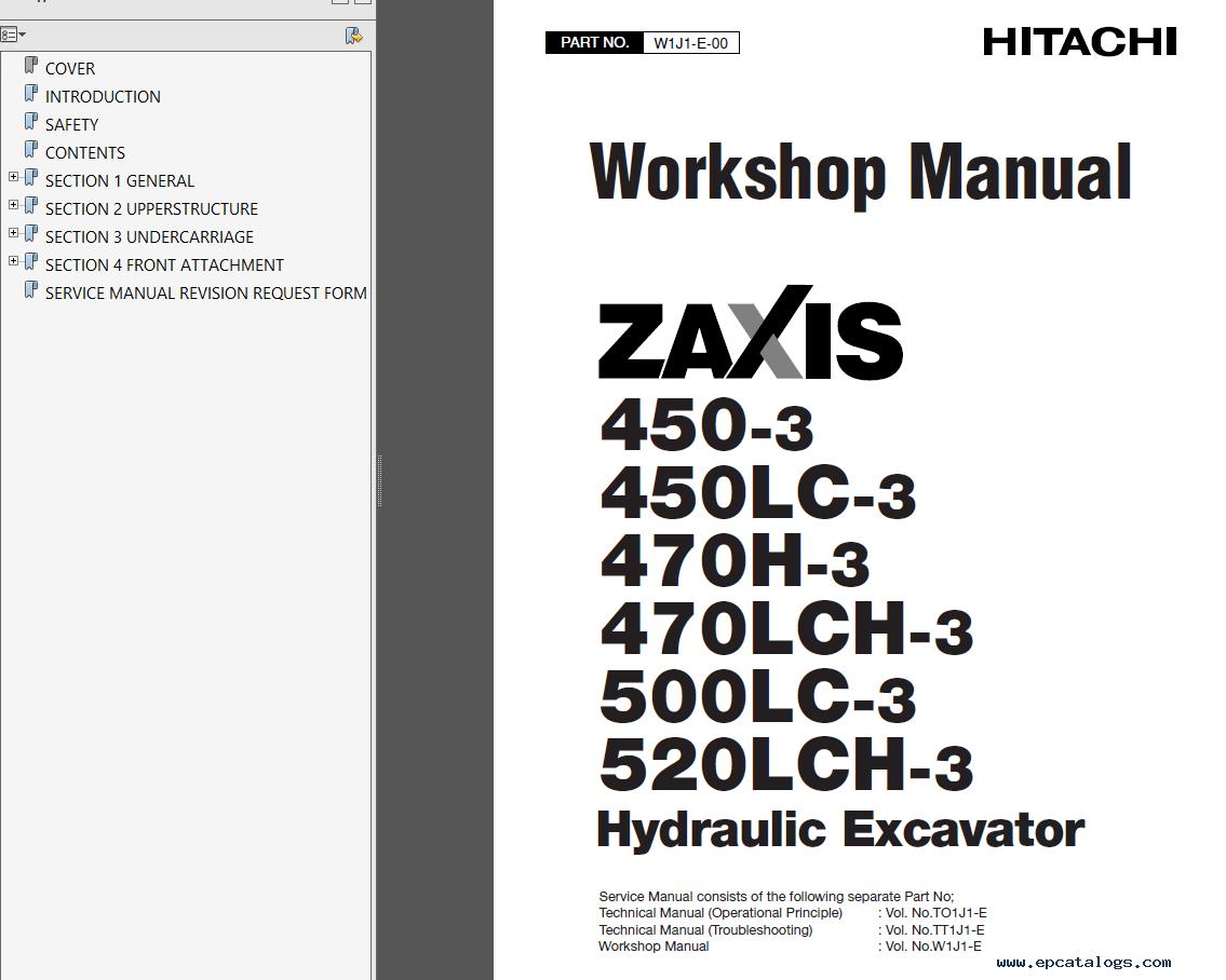 Hitachi ZX 450(LC)-3 470(LC)H-3 500LC-3 520LCH-3 PDF