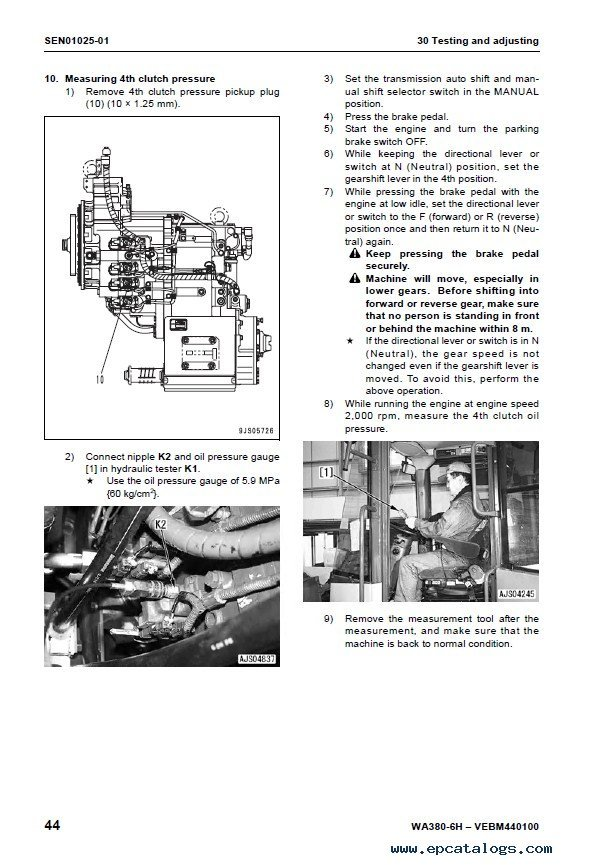 Komatsu WA380-6H Wheel Loader Shop Manual PDF