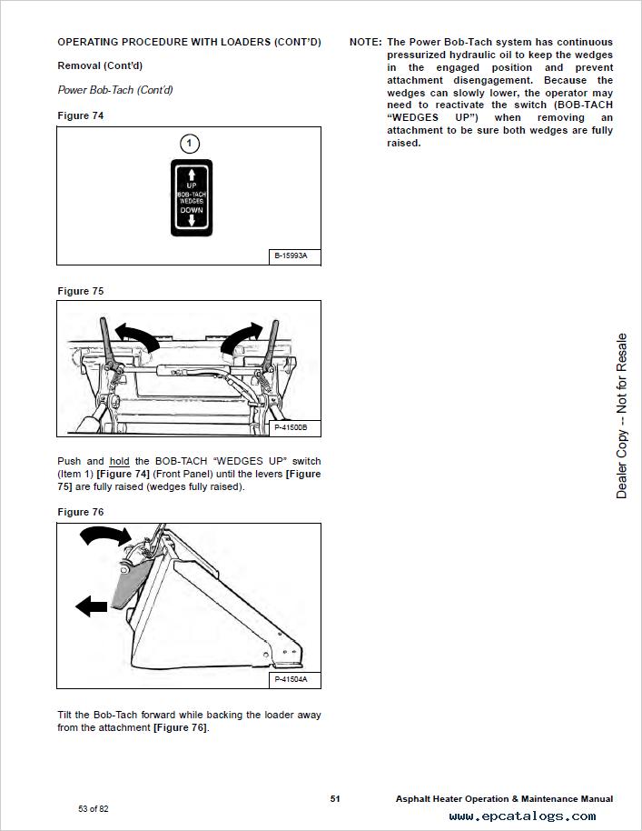 Bobcat Asphalt Heater S/N Operation and Maintenance Manual