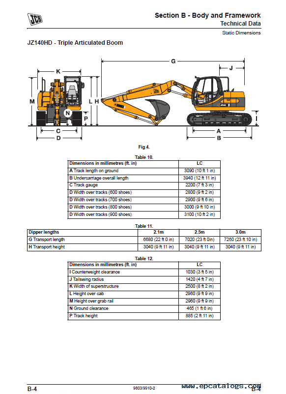 Download JCB Excavator JZ 140 Service Manual PDF