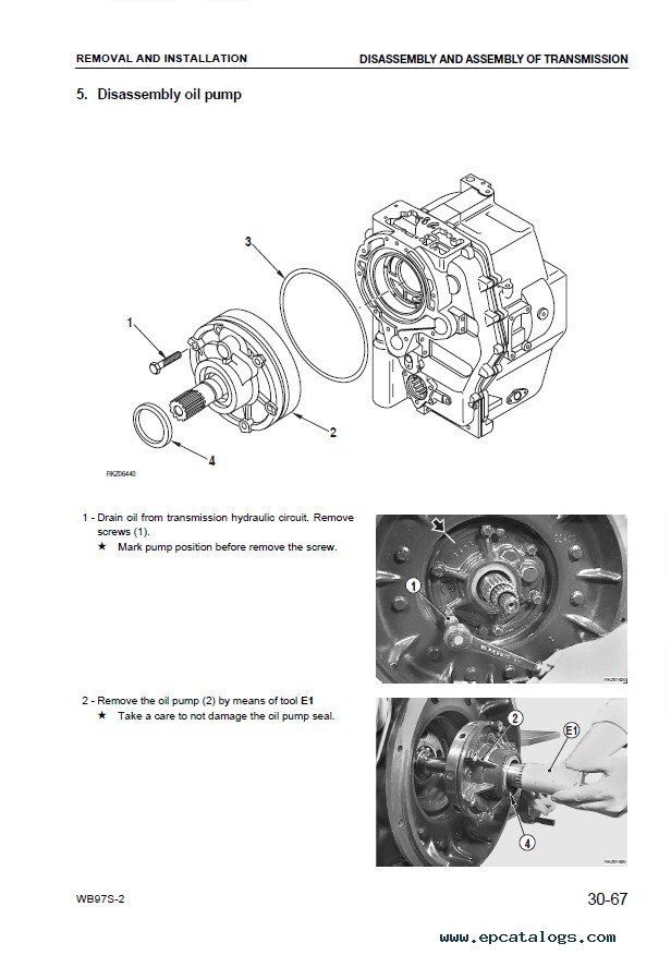 Komatsu WB97S-2 Backhoe Loader Shop Manual PDF