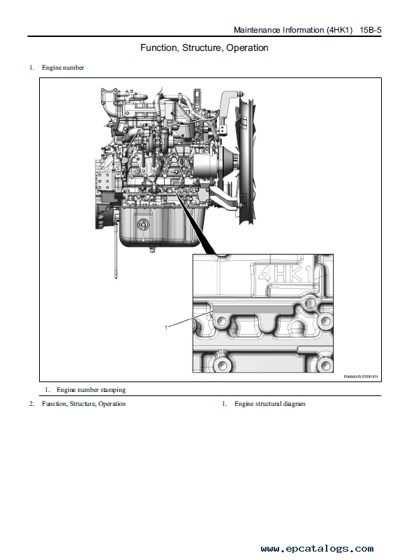 Download JCB Isuzu 4HK1 Interim Tier 4 Diesel Engine