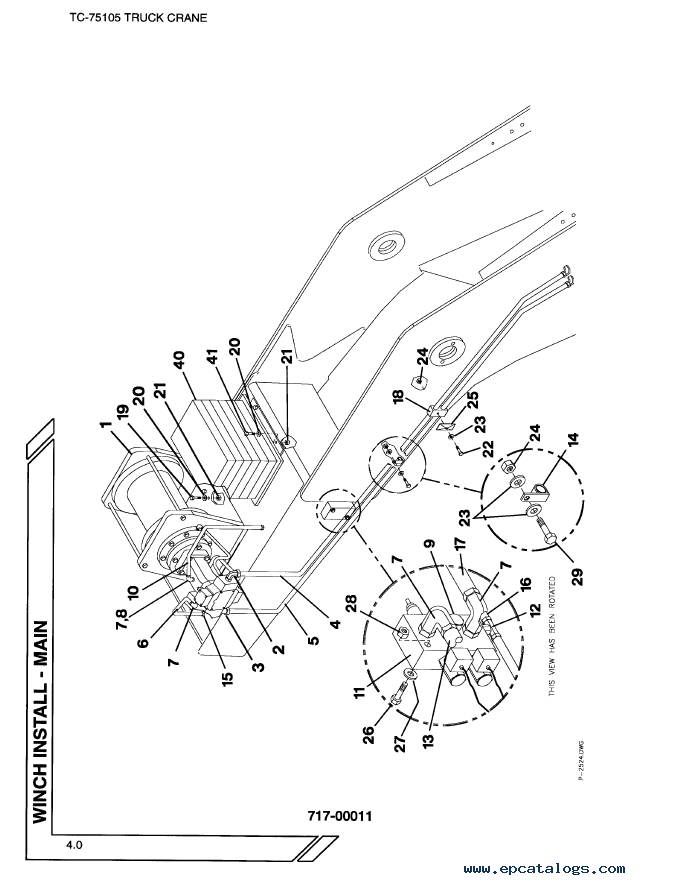 Terex TC-75105 Truck-Mounted Cranes Parts Manual PDF