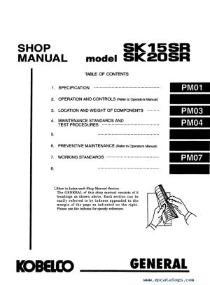 Kobelco SK15SR SK20SR Hydraulic Excavator PDF