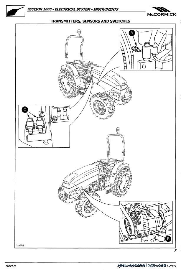 McCormick GX-40H GX-45H GX-50H Tractors PDF Manual