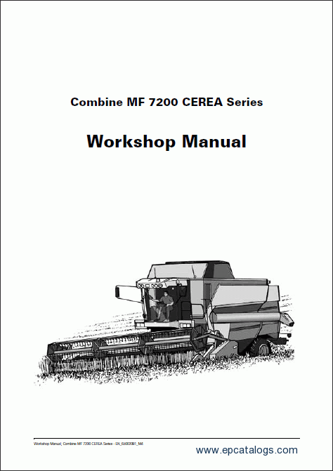 Massey Ferguson combine 7200 CEREA Workshop Manual Download