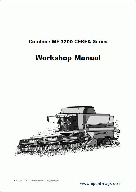 Massey Ferguson combine 7200 CEREA Workshop Manual Download