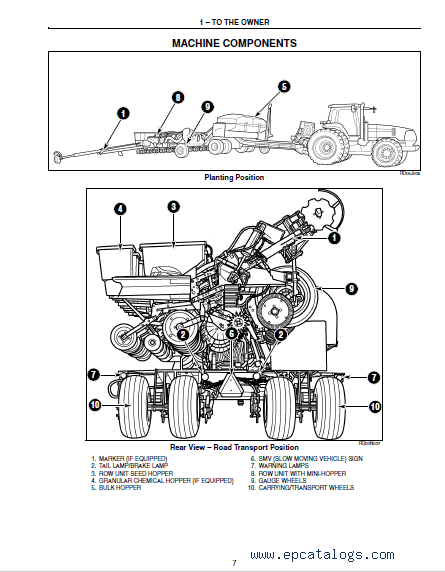 Case Planter 1200 series Pivot-Transport PDF Manual