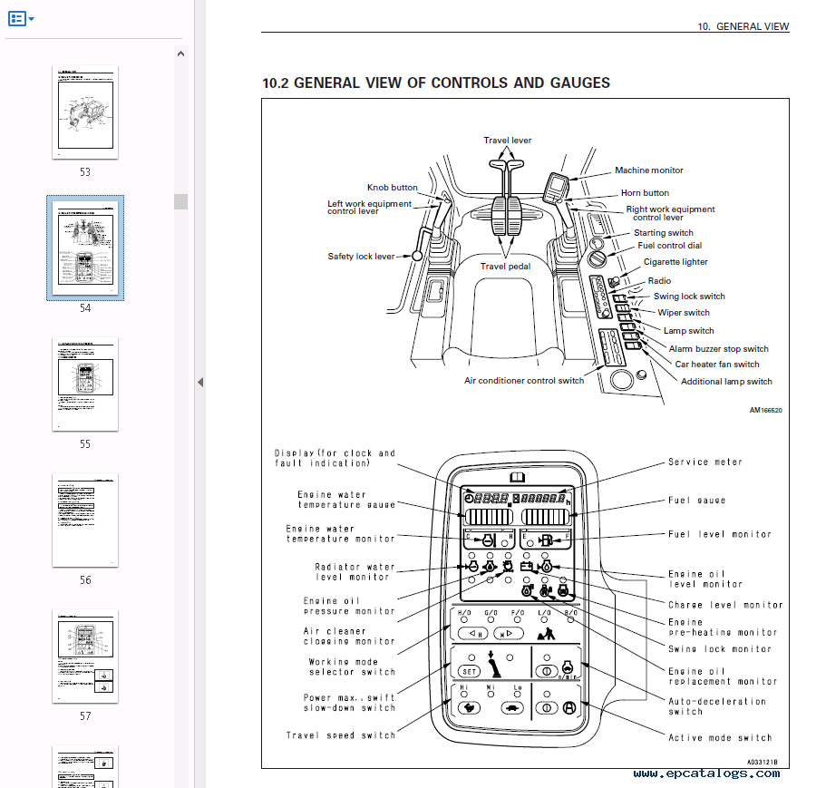 Komatsu Excavator PC120-6 Set of PDF Repair Manuals Download