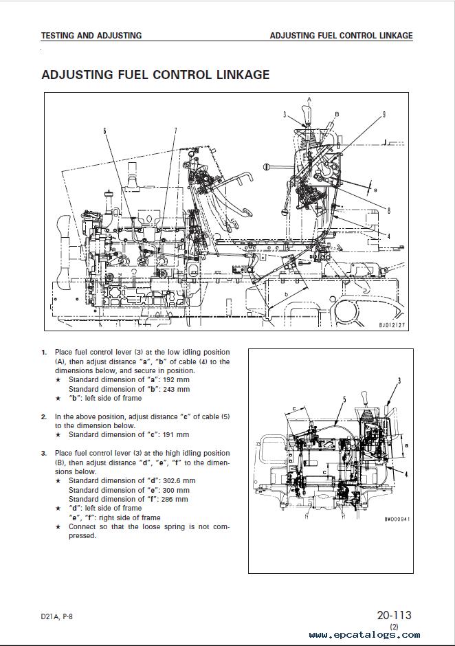 Komatsu Bulldozer D21A, P-8 Shop Manual PDF Download