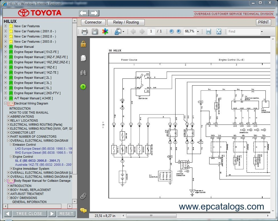 toyota hilux wiring diagram 2016 doorbell 2 bells download rzn142 vzn167 kzn165 kdn145 service repair manual technical information 3