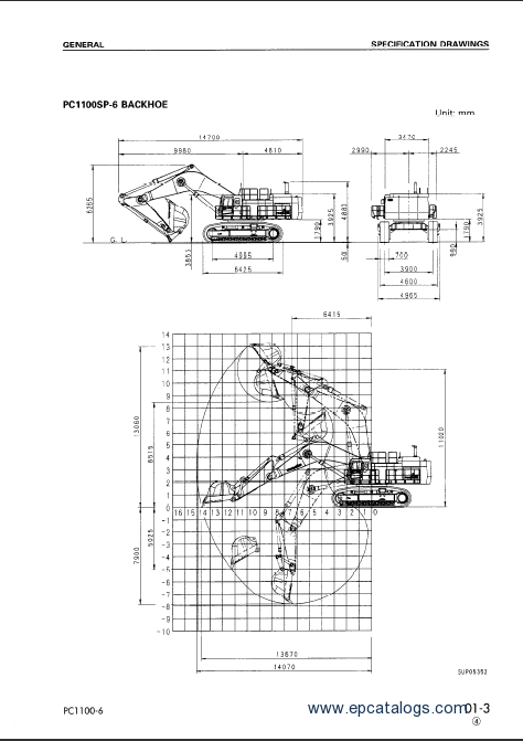 Komatsu Hydraulic Excavator PC1100-6 Service Manual Download