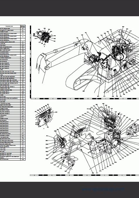 Komatsu Hydraulic Excavator PC270-8, PC270LC-8, repair