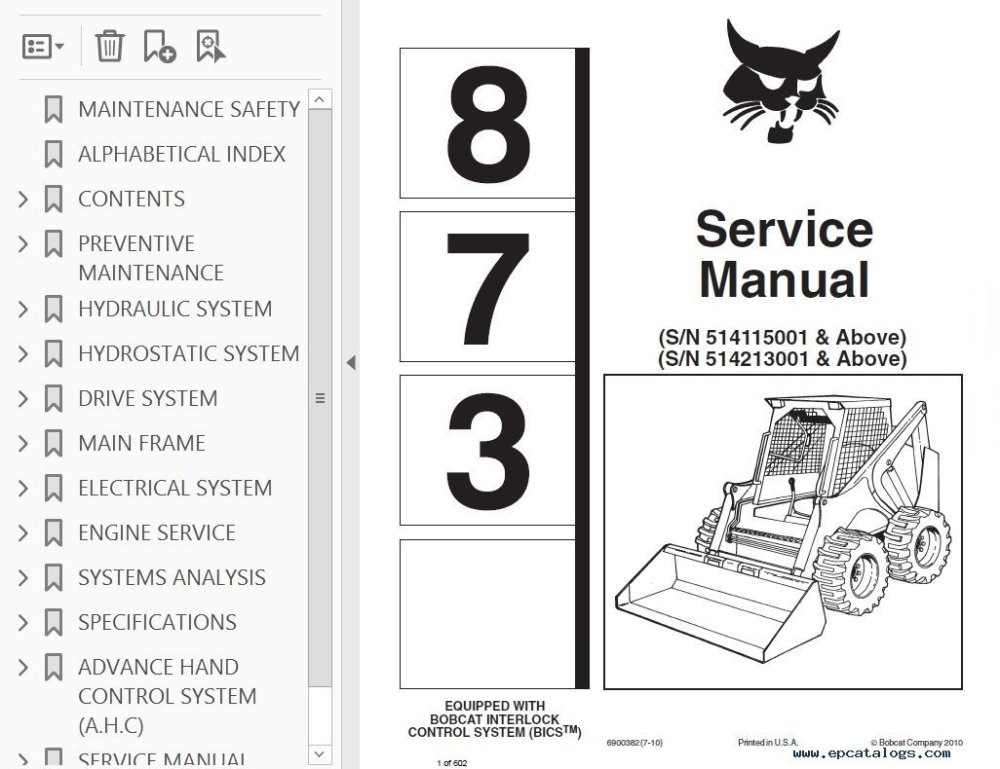 medium resolution of bobcat skid steer service manual workshop repair manuals software jpg 1026x790 bobcat interlock control system wiring