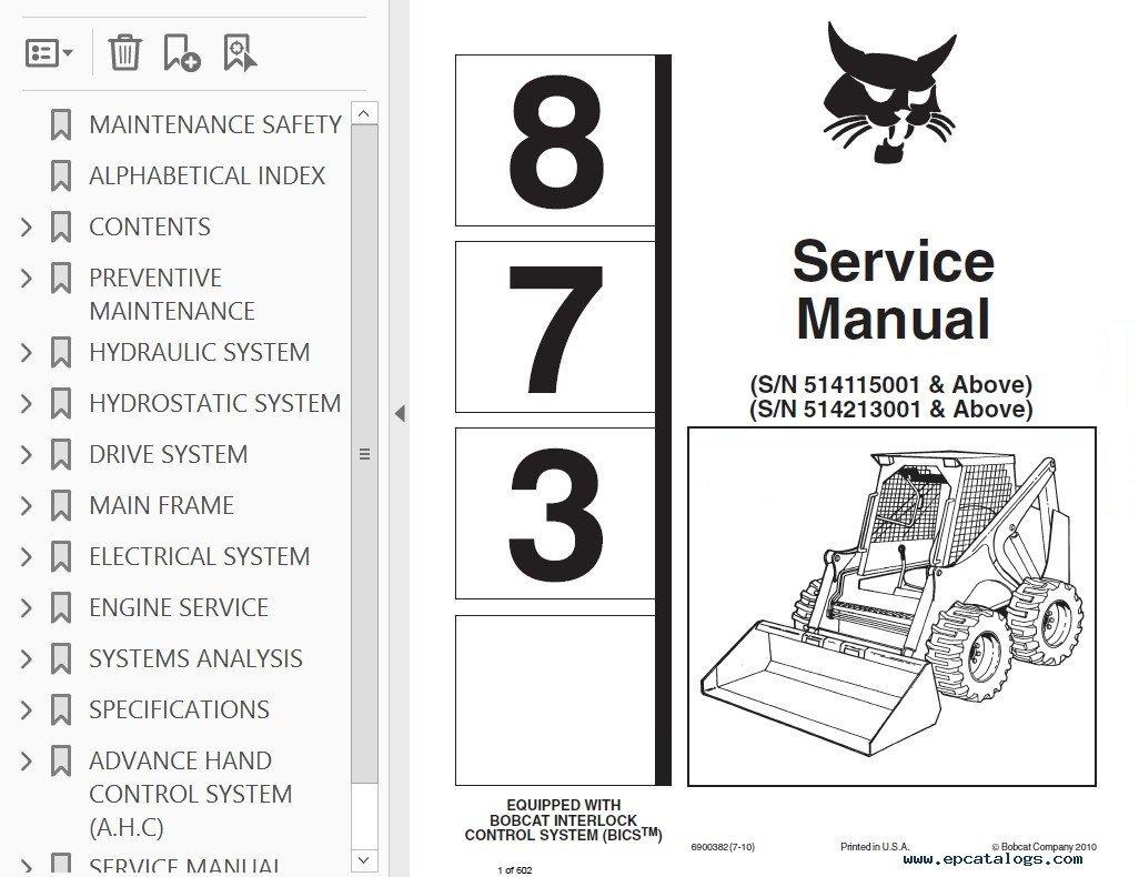 hight resolution of bobcat skid steer service manual workshop repair manuals software jpg 1026x790 bobcat interlock control system wiring