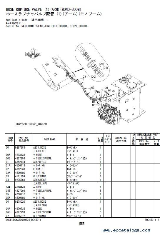 Download Hitachi Excavator Zaxis 200-6 Series Parts Catalog