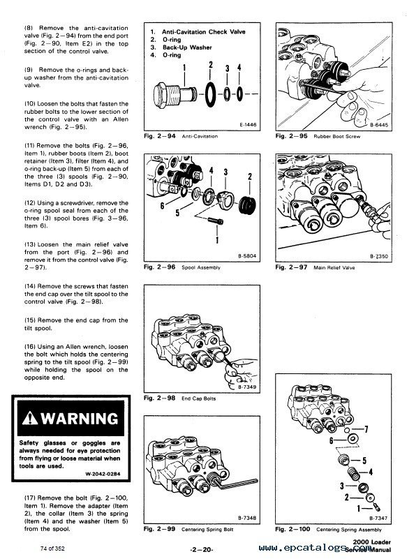 Bobcat 2000 Wheel Loader Service Manual PDF
