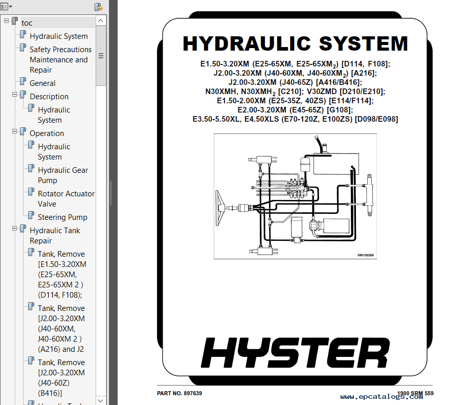 Hyster Class 1 E098 Europe Electric Motor Rider Trucks PDF