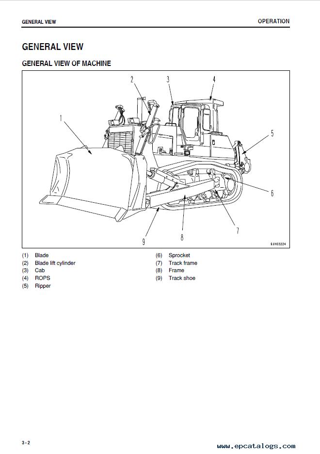 Komatsu Bulldozer D275AX-5 Set of Manuals PDF