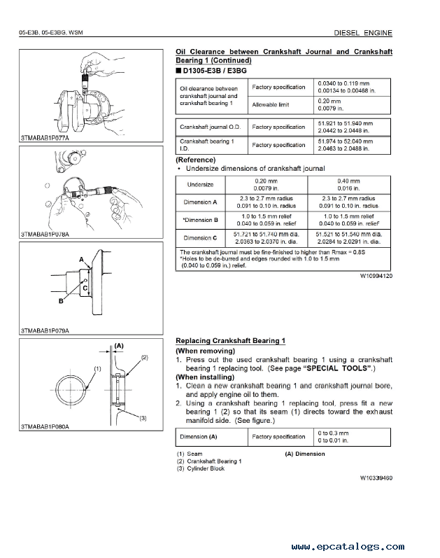 Kubota 05-E3B 05-E3BG Diesel Engine Workshop Manual PDF