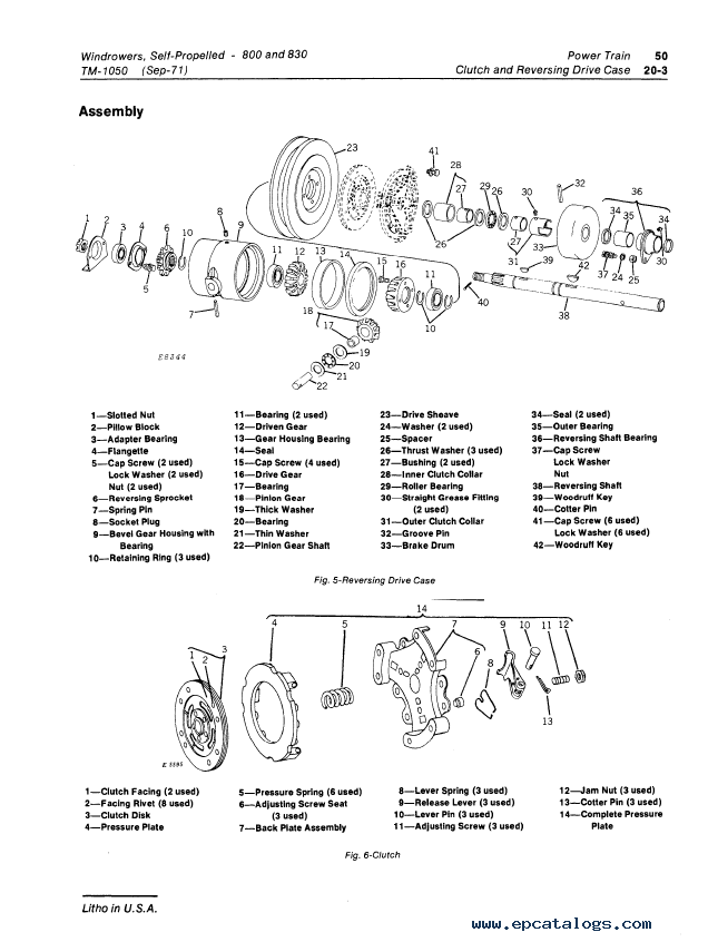 John Deere 800 830 Self-Propelled Windrowers TM1050 PDF