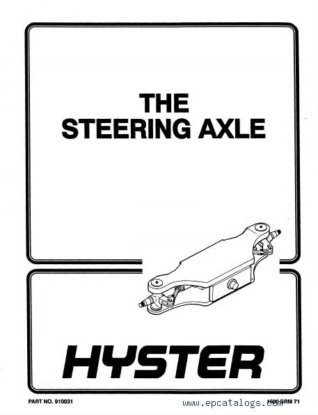 Hyster Challenger H440FS H550F/FS H620F/FS H650F H700F/FS PDF