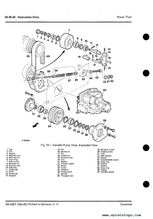 John Deere Combines Technical Manual TM4387 PDF