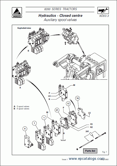 Massey Ferguson tractors 8200 series Workshop manual Download