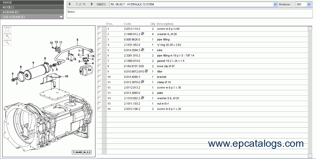 Hurlimann SDF e-Parts Spare Parts Catalog Download