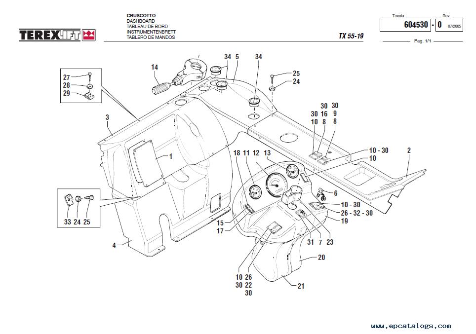 Terex TX55-19 Lift Download Parts Catalogue in PDF