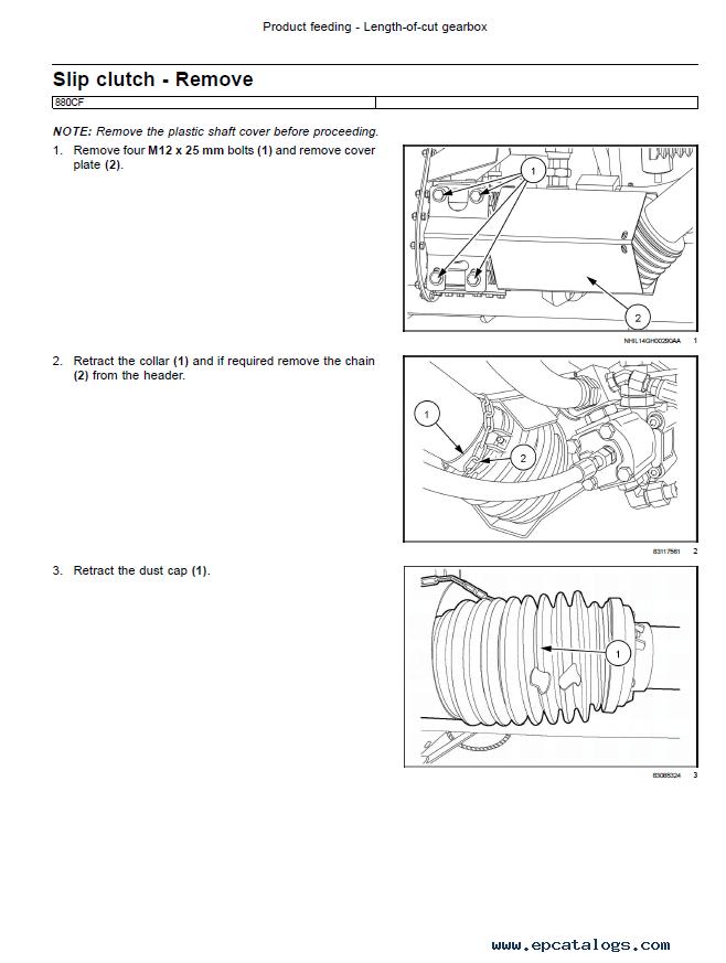 New Holland Draper Header 840CD and 880CF Service Manual PDF