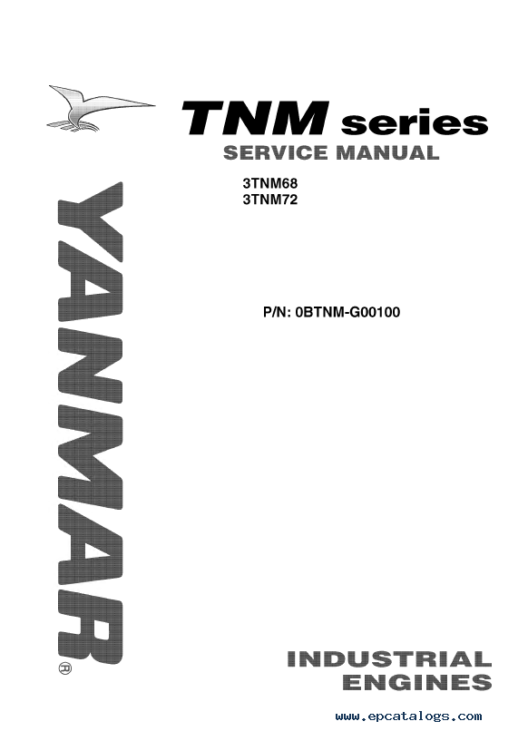JCB Yanmar 3TNM68 3TNM72 Industrial Engines Service Manual PDF
