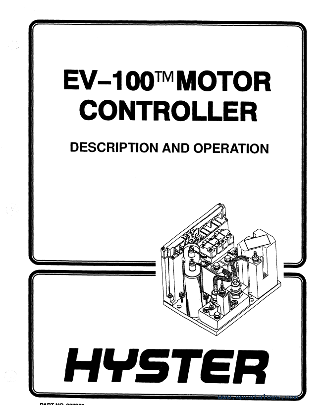 Hyster Class 1 C114 E25-35XL Motor Rider Trucks PDF Manual