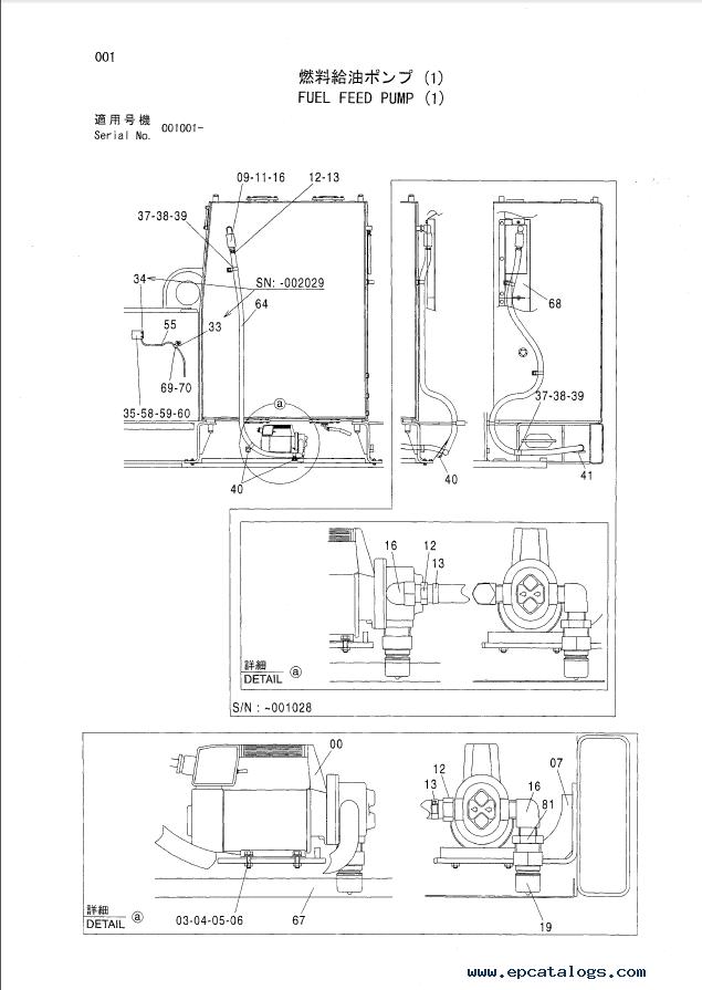 Hitachi EX1200-5/5C Fuel Feed Pump P18E-OP1-1 PDF