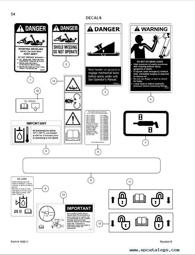 Macdon CA20 Combine Adapter Parts Catalog PDF Download