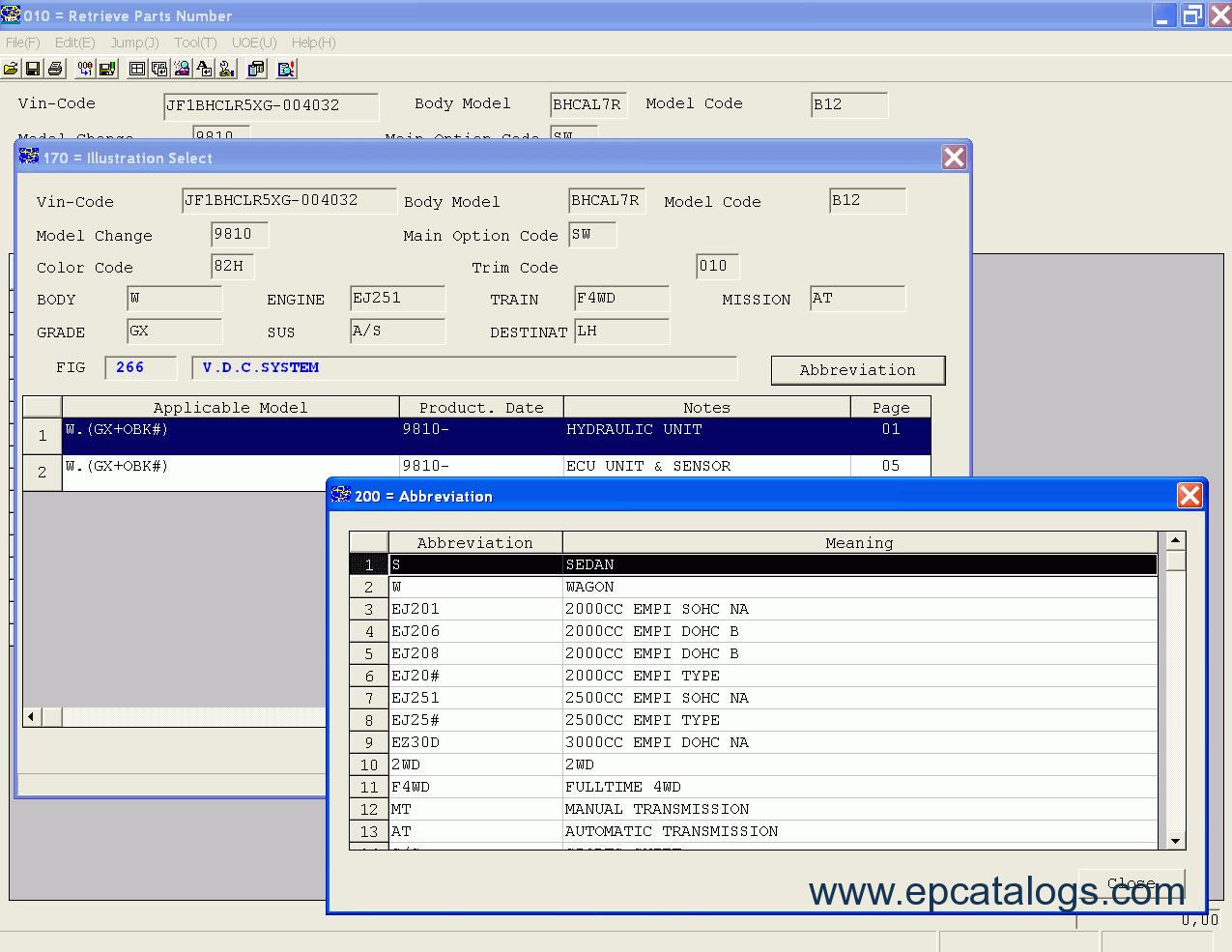 Subaru Legacy Spare Parts Catalog Diagram Manual A Good Owner Example
