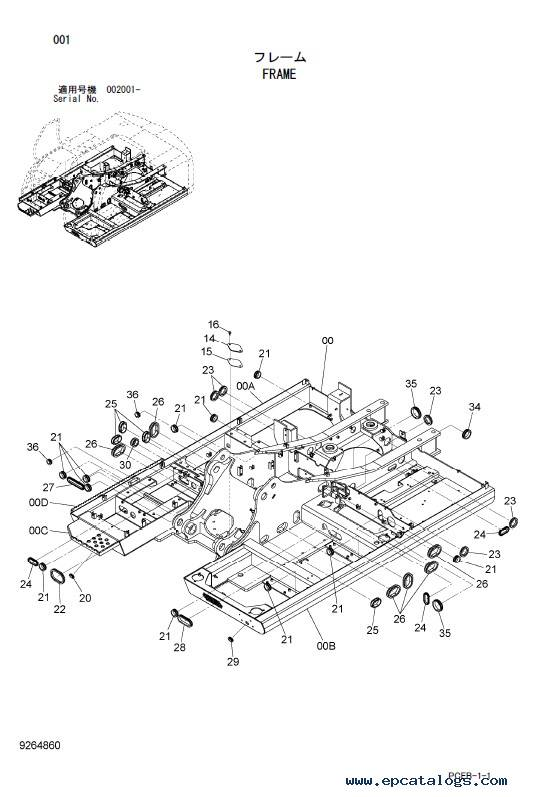 Hitachi Wheeled Excavator Zaxis 140W-3 Parts Catalog PDF