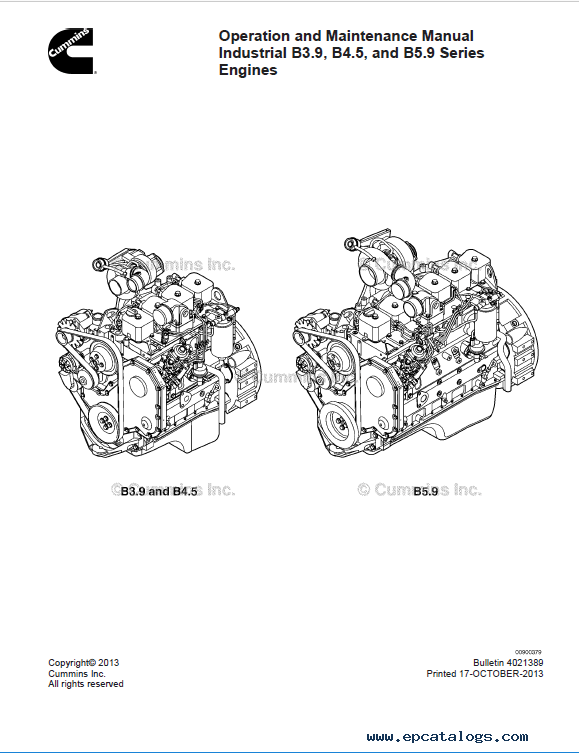 Download Cummins Engine B3.9 B4.5 B5.9 OM Manual PDF