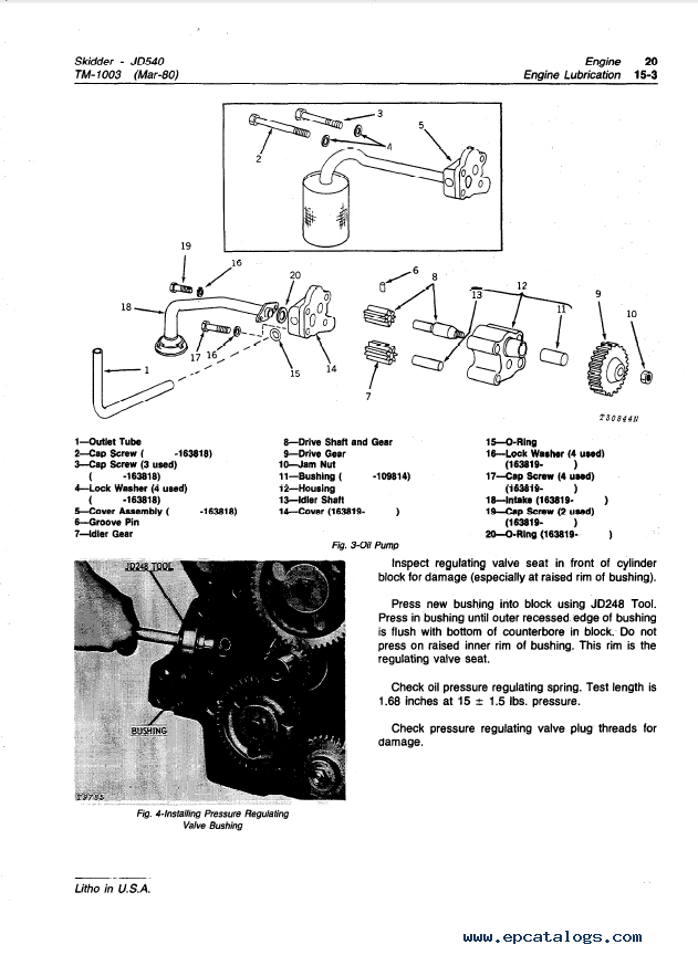 John Deere 540, 540A Skidders TM1003 Technical Manual PDF