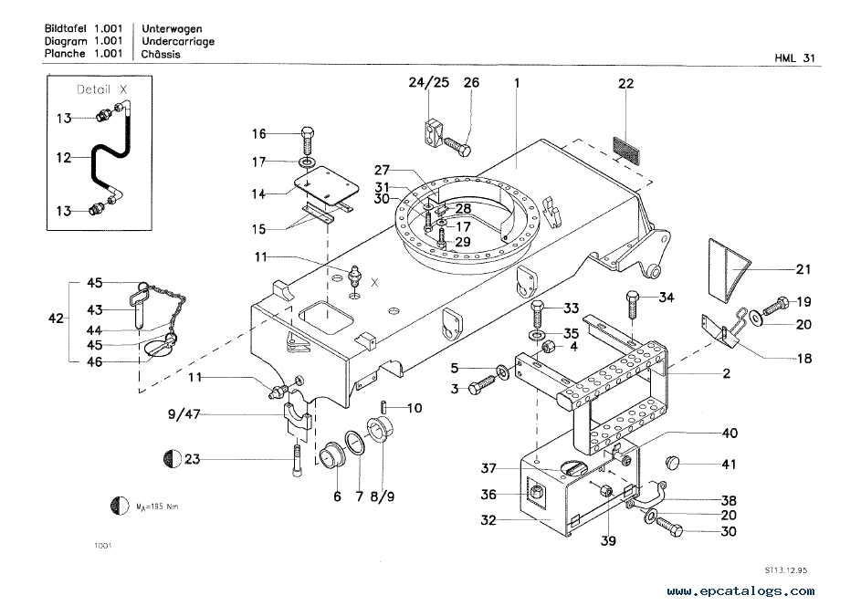 Terex HML 31 Mobile Excavator Download Parts Catalog PDF